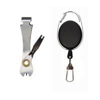 420 Nudo de acero inoxidable herramienta que ata Pesca pinza Quick Set Pesca con mosca Clippers Línea cortador de uñas corbata rápida Nudo retractor