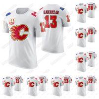 Calgary Flames 40. Jubiläum T-Shirt Johnny Gaudreau Sean Monahan Mikael Backlund Mark Giordano Matthew Tkachuk Milan Lucic Hockey Jersey