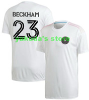 Personalizado 21-22 homens Inter Miami CF Preto Inaugural Away Jersey 23 Beckham 10 Pellarro 11 Pellegrini 21 Carranza 19 Robinson 7 Morgan