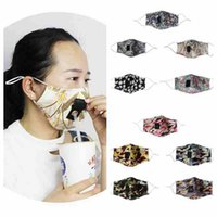 20 styles straws mouth cotton mask washable ear-hanging dustproof mask floral prinbted camo reusable face mask ZZA2436