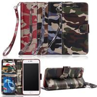 가죽 군대 Camo 위장 케이스 iPhone 6 6S Plus 5 5S SE 패턴 PU 카드 지갑 케이스 장갑 보호 휴대폰 케이스
