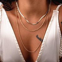 BLS-MIRACLACLE BOHEMIAN多層ペンダントネックレスファッションゴールドカラービーズネックレスステートメントジュエリー卸売NE'W