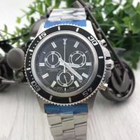 العلامة التجارية الجديدة الفاخرة رجل الساعات كرونوغراف متعددة الوظائف الفولاذ المقاوم للصدأ الكوارتز الرجال ووتش رجل اللباس المعصم montres دي لوكس