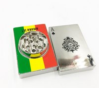 Più nuovo Poker Herbal Tabacco Grinder Due Strati Herb Hand Muller Sigarette Crusher Abrader Smoking Pipe Accessori Strumenti