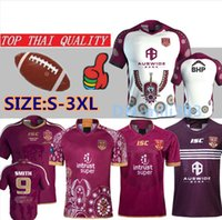 Nouveau 19 20 Ligue Nationale de Rugby Queensland 2019 QLD Maroons Malou Maillot de Rugby 2020 QLD MAROONS STATE OF ORIGIN Maillot de Rugby taille S-3XL
