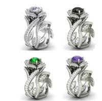 mode en gros faible pirce haute qualité aléatoire 3pcs / lot diamant cristal zircon femmes bague 7.92ty