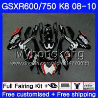 Kit für SUZUKI GSXR 750 600 schwarz Lager GSX-R750 GSXR600 2008 2009 2010 297HM.32 GSX R600 R750 600CC GSX-R600 K8 GSXR750 08 09 10 Verkleidung