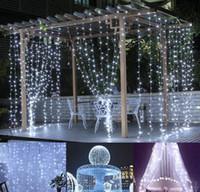 2019 3 * 3M LED 창 커튼 고드름 조명 (306) LED 9.8ft 8 모드 문자열 요정 크리스마스 / 할로윈 라이트 문자열 라이트 / 웨딩