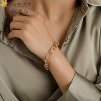 Link, Chain Fashion Men Hip Hop Bracelet Alloy Unisex Bracelets Gold Cuban Link For Women Wrist Jewelry Gifts