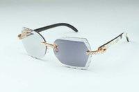 2020 Nova lente de mudança de cor esculpida de alta qualidade 8300817-C2 Luxo Natural Horn Misto Diamante Óculos Quadro 58-18-140mm Um Espelho Dual-Uso