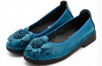 2019 Flower Women's shoes in Spring and Autumn with New style flat bottom round head @183
