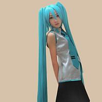 شعر مستعار الشحن المجاني Vocaloid هاتسون ميكو 2 ذيل الحصان تأثيري الباروكة