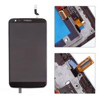 5.2inch لشاشة LG G2 D800 D802 LCD تعمل باللمس + محول الأرقام الجمعية لشاشات الكريستال السائل LG G2 مع الإطار