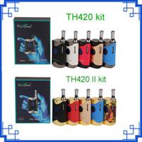 Original TH420 Starter Kit II 650 mAh Tensão Ajustável Caixa de Bateria de Arranque TH420 Mod 0.5 ml Tanque Cartucho de Óleo Grosso CE3 vs mini k