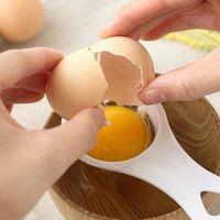 البلاستيك البيض المقسمات صفار البيض فاصل الآمن العملي أدوات البيض اليد كيكثين أدوات الطبخ 12.7x6 سنتيمتر