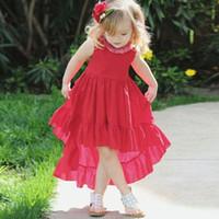 8b482fd9d Wholesale infant dresses online - Retail baby girl dresses ins infant  irregular vest skirt summer sleeveless