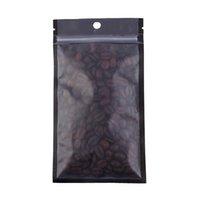 12x22cm 100pcs claro mate Limpar um lado preto / branco Reclosable Mylar plástico zip lock Bolsa Bags