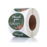 500pcs / Roll Grazie per sostenere la mia piccola impresa adesivi floreale Seal Paper Label Stickers mestiere Handmade Busta Invitation Card Tag