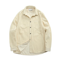 Topstoney 2020konng Gonng Functional Corduroy Mens Camisa Primavera e Outono Moda Marca Casaco Casual Corduroy Manga Longa Camisa