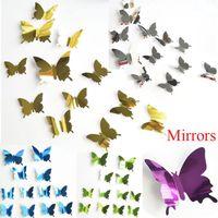 Farfalla 3D Sticker Art Design Sticker murale capretti delle decalcomanie Home Decor Magnet Sticker