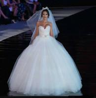 2019 Lüks Balo Gelinlik Sevgiliye Sequins Boncuklu Tül Kat Uzunluk Artı Boyutu Gelinlikler Sparkly Gelin Elbise