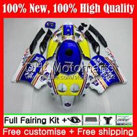 Injeção Rothmans Azul + Tanque Para HONDA CBR 250RR CBR250RR 95 96 97 98 99 77MT13 MC22 CBR250 RR 1995 1996 1997 1998 1999 Carenagem