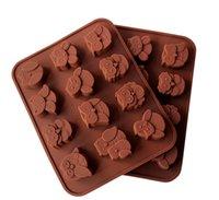 Muffa del cioccolato a forma di gufo muffa del ghiaccio 3d forma di stampo fai da te stampo in silicone torta dolce