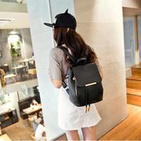 حقيبة مدرسية للفتيات حقيبة ظهر نساء جلدية اللون حقائب مدرسية سفر حقيبة كتف موشيلا فومينا الزرقاء # G2