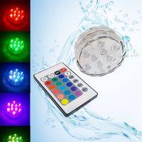 Bateria Operado IP68 Nating Pool Light RGB Submersível LED Subaquática Luz Subaquática Para Shisha Flor Chá Vaso Garland Luzes Decorativas