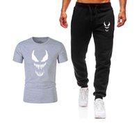 New Men' s Sets T Shirts+ pants Two Pieces Sets Casual Tr...