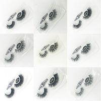 1 par de cílios falsos 3d vison cílios luxo artesanal de longa duração volume cílios extensão cílios postiços reutilizáveis