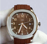U1 Fabrika Kalite Nautilus Mens Watch Aquanaut 2813 Otomatik Hareketi Saatler Kauçuk Kayış Kahverengi Dial 5711 Erkek Kol Saatleri