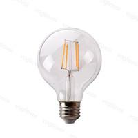 LED 전구 G95 아니 디 밍이 가능한 AC95-265V 필라멘트 360 각도 에디슨 램프 4W 6W 8W 크리스탈 샹들리에에 대 한 따뜻한 흰색 펜던트 바닥 테이블 조명 DHL