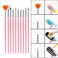 거짓 네일 팁 UV 못 젤 폴란드어 브러쉬 15pcs / 세트의 예술 브러쉬 장식 브러쉬 세트 도구 네일 아트 페인팅 펜을 네일