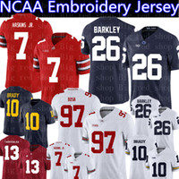 Ohio State Buckeyes 7 Haskins Jr Penn State Nittany Lions 26 Barkley Alabama Crimson Tide 13 Tagovailoa Michigan Wolverines NCAA Jerseys