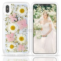 Luxury Karat Petals Transparent Case For iPhone X XS Max 6 7...