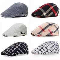 Classic Englad Style Plaid Berets Caps For Men Women Casual ...