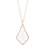 Moda Kendra Style Fashion Opal Stone Gota de agua de alta calidad Cat Eye Stone Colgante de joyería para mujeres