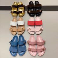 2020 Lüks Moda Tasarımcısı Terlik Patent Tuval Bom Dia Düz Katır Sandal Erkekler Plaj Slaytlar Kauçuk Taban Yaz Ayaklı kutusu EU35-46 Flop