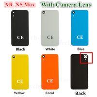 20PCS OEM Glasdeckel für iPhone XR XS MAX Batterie Glas Rückseite Tür-Gehäuse mit Klebstoff Kamera Lnes CE europäische Version