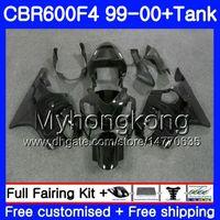 Bodys +Tank For HONDA CBR 600 F4 FS CBR 600F4 CBR600F4 99 00 287HM.33 CBR600FS CBR600 F 4 CBR600 F4 1999 2000 Fairing Grey flames stock kit