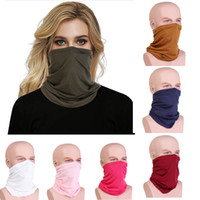 Women Men Muslim Hijab Scarf Wrap Neck Ring Solid Plain Colors High Quality Masked Towel Face Mask Lnwdh