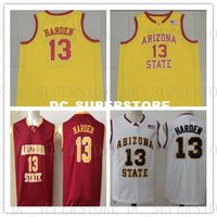 Cheap custom #13 Harden Arizona State Basketball College Jer...