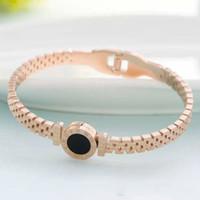 Viti All'ingrosso-oro rosa dell'acciaio inossidabile 316L vite braccialetto braccialetto con cacciavite e pietra con trasporto libero della scatola
