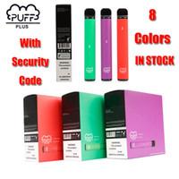 퍼프 플러스 바 일회용 장치 포드 스타터 키트는 550mAh 배터리 3.2ml 카트리지 Vape 펜 보안 코드 VS MR 증기 업그레이드