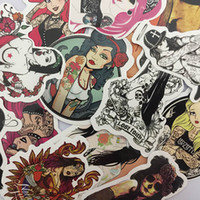 100pcs set Old School Sexy Tattoo Girls Cool Color Stickers ...