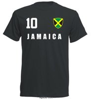 Hot sale Summer Style Jamaica T- shirt jersey style footballe...
