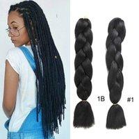 Ombre Jumbo Braid Ombre Platcia Włosy 24 cali X-Pression Hair Extensions Afro Box Braids Crochet Włókno syntetyczne dla Afryki Kobiet