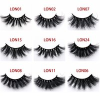 5D Natural Visone Ciglia Finte 25 MM Donna Spessa Lungo Disordinato Cross Eye Lashes Extension Visone Ciglia Eye Makeup Tool TTA515