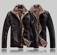 Men's leather jacket men winter warm wool jackets coats pu Men's leather jacket men winter warm wool jackets coats